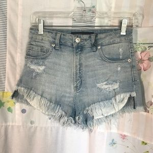 NWT Just USA - Distressed High Rise Jean Shorts